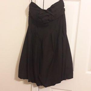 Black Alyn Paige Bubble Hem Dress 7/8